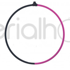 Кольцо без крепления с черно-розовым тейпом