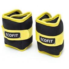 Утяжелитель EcoFit 1 кг x 2 шт (Желтый)