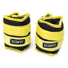 Утяжелитель EcoFit 1,5 кг x 2 шт (Желтые)